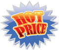 Hot Price sign Royalty Free Stock Photography