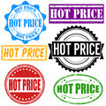 Hot price stamp set vintage grunge rubber stamps on white vector illustration Royalty Free Stock Image