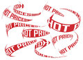 Hot prices shopping direction vector arrows set various Stock Images