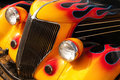 Hot rod flames a beautifully done flame paint design job done on a custom Royalty Free Stock Photo