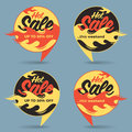 Hot sale price offer deal vector labels stickers. Circle form wi