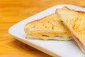 Hot Sandwich With Ham Cheese W...