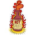 Hot sauce bottle an image of a Royalty Free Stock Images