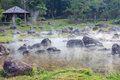 Hot spring at chaeson national park lampang province thailand Stock Images