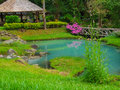 Hot spring the garden of at jaeson national park thailand Stock Photography
