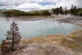Hot spring a in yellowstone national park Stock Photos