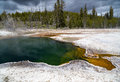 Hot spring a in yellowstone national park Stock Photo