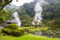 Hot springs in Japan Royalty Free Stock Photo