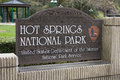 Hot Springs National Park Sign Arkansas Stock Images