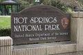 Hot Springs National Park Sign Arkansas Royalty Free Stock Photo