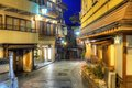 Hot springs resort town shibu onsen a in nagano japan Royalty Free Stock Photography