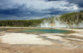 Hot springs in Yellowstone. Royalty Free Stock Photo