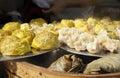 Hot steamed dumpling,chinese buns,pork bun Royalty Free Stock Photo