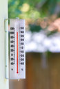 Hot summer heat wave temps during a are getting near degrees outside Royalty Free Stock Photo