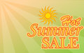Hot summer sale banner design for offer Royalty Free Stock Images