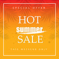 Hot summer sale banners. Special offer.