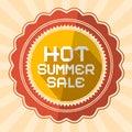 Hot summer sale illustration retro vector Stock Photography