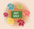 Hot Summer Sale sign Royalty Free Stock Photo
