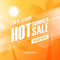 Hot Summer Sale special offer banner for business, commerce and advertising. End of season. Royalty Free Stock Photo