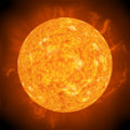 Hot sun Royalty Free Stock Photo