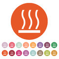 The hot surface icon. Hotly symbol. Flat