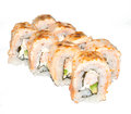 Hot sushi the on white background shallow dof Royalty Free Stock Images