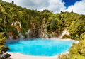 Hot thermal spring, New Zealand Stock Photos