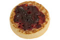 Hot Toasted Crumpet with Jam Royalty Free Stock Photo