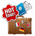 Hot tour icon illustration of a Stock Images