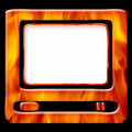 Hot tv frame Stock Photography
