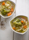 Hot vegetable soup two Royalty Free Stock Photography