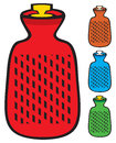 Hot water bottle sign bag Royalty Free Stock Images