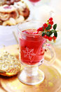 Hot wine cranberry punch Royalty Free Stock Photos