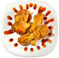 Hot Wings Dish Top Clip Path Royalty Free Stock Photo