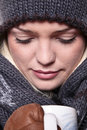 Hot Winter Drink Closeup Royalty Free Stock Images