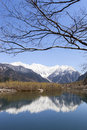 Hotaka Mountain Range Reflected in Lake Royalty Free Stock Photo