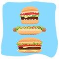 HotDog and hamburger