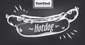 Hotdog poster with cool design