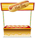 A hotdog stand illustration of on white background Stock Photo