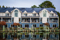 Hotel along the Miles River, in St. Michaels, Maryland. Royalty Free Stock Photo