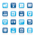 Hotel Amenities Services Icons Stock Images