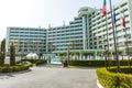 Hotel area in Sunny beach, Bulgaria Royalty Free Stock Photo
