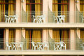 Hotel balconies Royalty Free Stock Photography