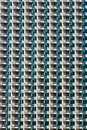 Hotel balconies pattern Royalty Free Stock Photography