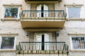 Hotel balconies in sapa at vietnam Royalty Free Stock Photography