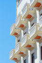 Hotel balconies in Thessalonica, Greece Royalty Free Stock Photos
