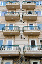 Hotel balconies at the vietnam Royalty Free Stock Images