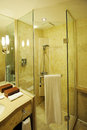 Hotel bathroom interior Royalty Free Stock Photography