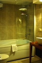 Hotel bathroom interior of brand new luxury resort Stock Image