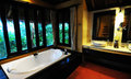 Hotel bathroom in thailand interior of luxurious accommodation Stock Photo